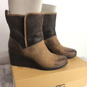 Ugg Renatta Waterproof Wedge Boots Size 9